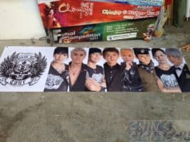 Kpop Stars PVC banner printing