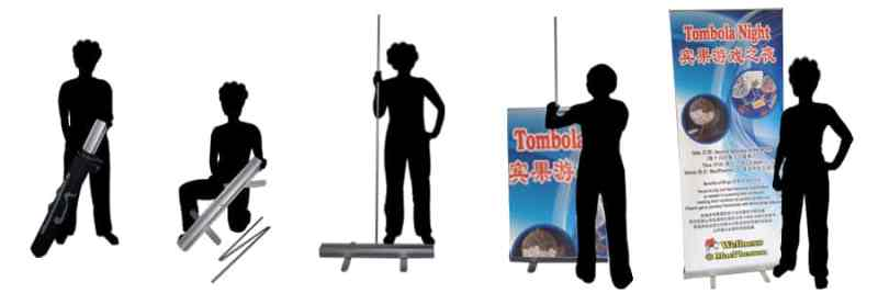 Only $70+ ! Non-curling Pull Up Banner | Roll up Stand