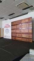 bursary awards backdrop with book shelf as backgound