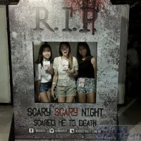 halloween Photo booth with frame for Bugis street