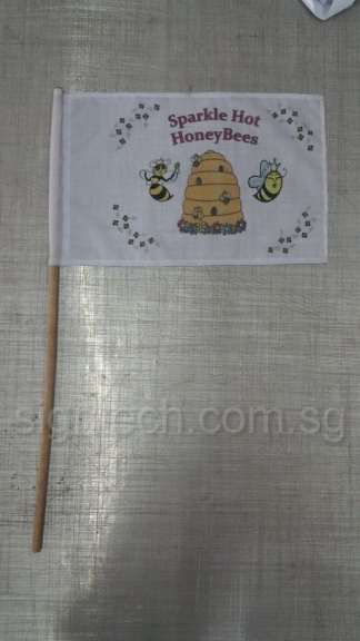mini flag with wooden pole