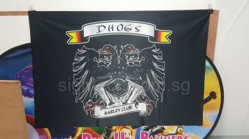 4.5 x 3ft Fabric banner on glossy 240 GSM DHOGS - HARLEY CLUB _1