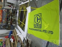 Company Flags Printing - Front view
