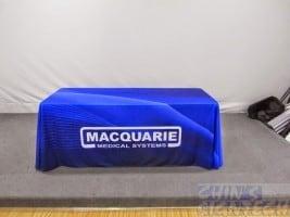 Custom Table cloth printed blue