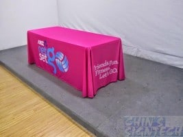 Custom Table cloth printed hot pink