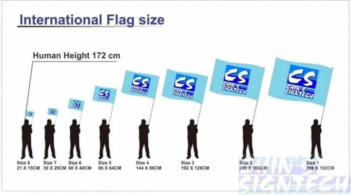 International Flag Size