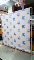 Portable Telescopic Backdrop with PVC banner