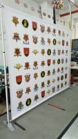 Portable Telescopic Backdrop with PVC banner for Army