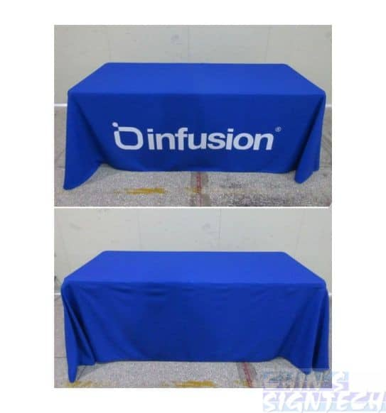 Trade Show Table Cloth – 4 Sided Full covers
