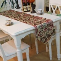 table decorated with table runner