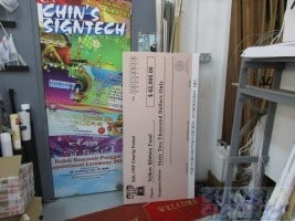 5ft x 2.5ft custom mock cheque