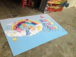 birthday foam board with care bears