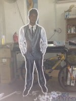 cut out human shaped foam boards