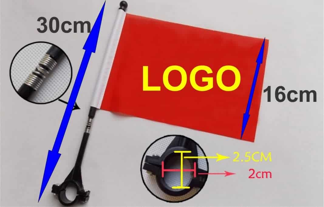 Safety Bicycle Flag quick and easy fix at rear or handle