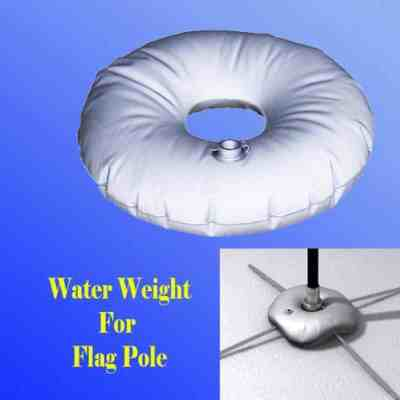 water weight for teardrop flag