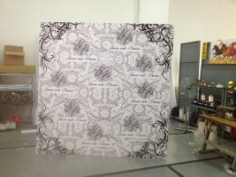 8 x 8 feet disposable self stand foam board backdrop