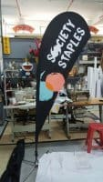 Double sided Small size Teardrop Banner - Society Staples