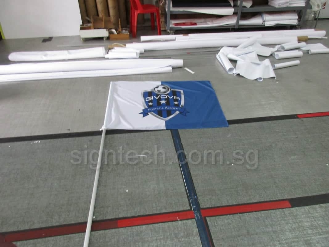Flag with 8 feet pole