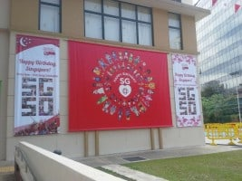SG50 banners with installing