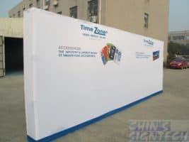 20ft Straight Velcro Fabric Pop Up Display - Outdoor