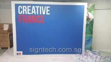 4 x 3 portable trade show displays - Creative France