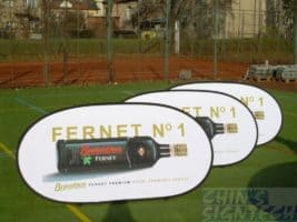 Pop Up A Frames at tennis court