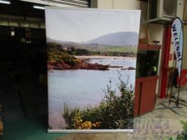 1.5 x 2m pull up banner-river