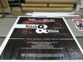8 x 5ft PVC banner printing for dancing with friends Photo Booth backdrop Black & White