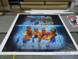 8 x 5ft PVC banner printing for dancing with friends Photo Booth backdrop -_Pool Party