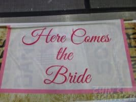 Satin printing for Here comes the bride