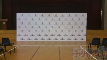 20 x 8ft Step and repeat stage backdrop