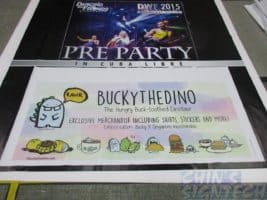8 x 5ft PVC banner printing for dancing with friends Photo Booth backdrop and Bucky the Dino