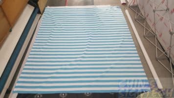 Blue and white stripes 3 x 2.5m photo booth background print on fabric