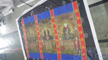 Fabric printing for chinese temple