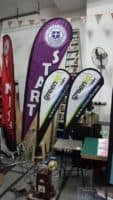 Medium and Small Size Teardrop Flying Banners