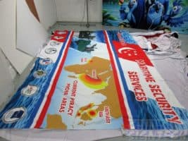 Fabric banner for shell scheme walls