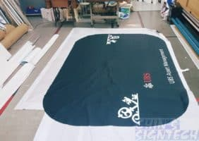 UBS 6ft table cloth with side logo