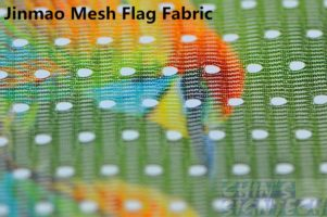 polyester flag mesh fabric sublimation printing