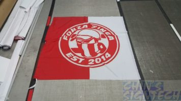 5x 5ft flag - FORZA ZINGA