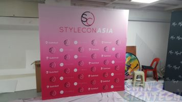 2.25 x 2.25m Fabric Pop Up display for STYLECONASIA