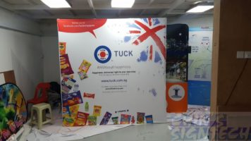 2.25 x 2.25m Fabric Pop Up display for Tuck