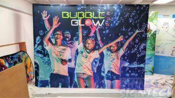 3 x 2.25m Fabric Pop up display for Bubble Glow Run
