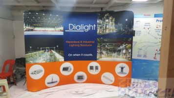 3 x 2.25m Tension Fabric Display for Dialight