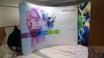 3x 2.25m Curve shape Tension Fabric Display - xSuite powered by WMD