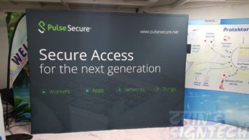 Pulse Secure Fabnric Pop Up Display - 4x3