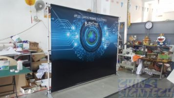 Telesopic Backdrop with PVC Banner
