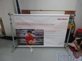 Telesopic Backdrop with PVC Banner for exhibition