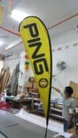 4.6m teardrop banner - PING - Yellow
