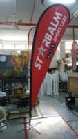 3.3m teardrop banner - Starbalm Sport Care - Red