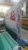 3 x 2.25m Fabric pop up display - Double Sided